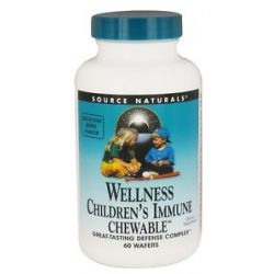 Source Naturals Wellness Children's Immune 60 Chewable Wafers