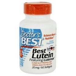 Doctor's Best Best Lutein Featuring Lutemax 20 MG 60 Softgels