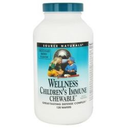 Source Naturals Wellness Children's Immune 120 Chewable Wafers