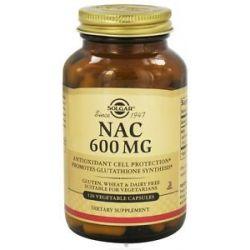 Solgar NAC N Acetyl L Cysteine 600 MG 120 Vegetarian Capsules
