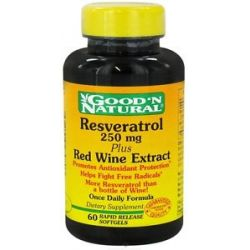 Good 'N Natural Resveratrol Plus Red Wine Extract Once Daily Formula 250 MG