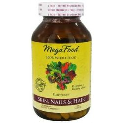 MegaFood Dailyfoods Skin Nails Hair 180 Vegetarian Tablets