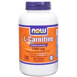 Now Foods L Carnitine 1000 MG 100 Tablets