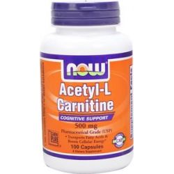 Now Foods Acetyl L Carnitine 500 MG 100 Capsules