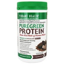 Vibrant Health Pure Green Protein Powder Chocolate 17 23 Oz