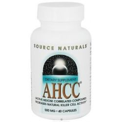Source Naturals AHCC with Bioperine 500 MG 60 Capsules