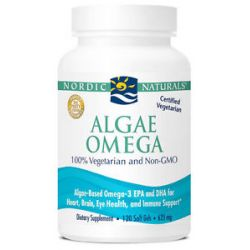 Nordic Naturals Algae Omega Vegetarian Omega 3 120 Softgels