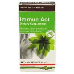 Erba Vita Immun Act 60 Vegetarian Capsules CLEARANCE Priced