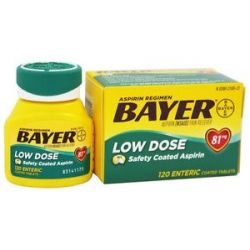 Bayer Healthcare Bayer Low Dose Safety Coated Aspirin 81 MG 120
