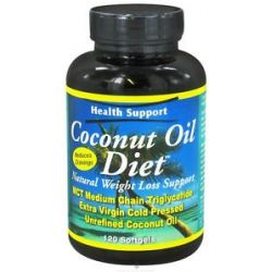 Health Support Coconut Oil Diet Natural Weight Loss Support 120 Softgels
