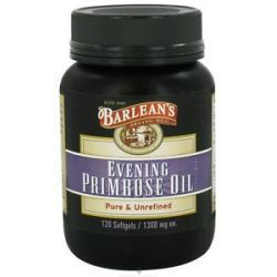 Barlean's Organic Evening Primrose Oil 1300 MG 120 Capsules