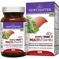 New Chapter Every Man II 40 Whole Food Complexed Multivitamin 48 Tablets