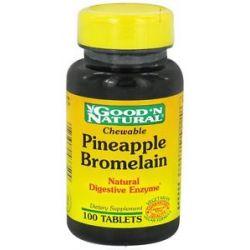 Good 'N Natural Chewable Pineapple Bromelain Natural Digestive Enzyme 100