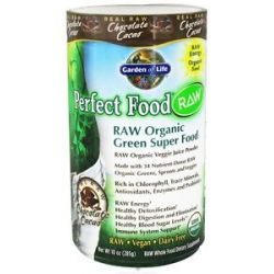 Garden of Life Perfect Food Raw Super Green Formula Chocolate Cacao 10 Oz