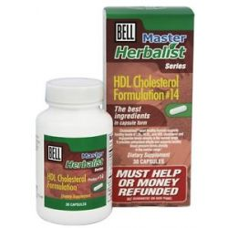 Bell Lifestyle Master Herbalist Series 14 Hdl Cholesterol Formulation 30