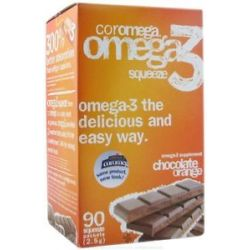 Coromega Omega 3 Squeeze Orange with A Hint of Chocolate 90 Packet S