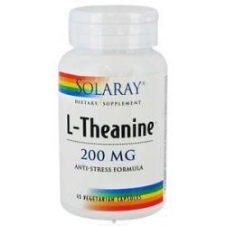 Solaray L Theanine Anti Stress Formula 200 MG 45 Vegetarian Capsules