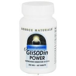 Source Naturals Glisodin Power Superoxide Dismutase SOD 250 MG 60 Tablets