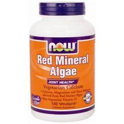 Now Foods Red Mineral Algae Vegetarian Calcium 180 Vegetarian Capsules