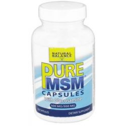 Natural Balance Pure MSM with Glucosamine 500 MG 120 Capsules Formerly