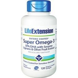 Life Extension Super Omega 3 EPA DHA with Sesame Lignans Olive Fruit Extract