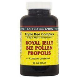 YS Organic Bee Farms Triple Bee Complex Royal Jelly Bee Pollen Propolis