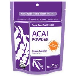 Navitas Naturals Acai Powder Freeze Dried Powder Certified Organic 8 Oz