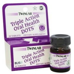 Twinlab Triple Action Oral Health Dots All Natural Peppermint Flavor 30