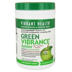 Vibrant Health Green Vibrance Junior for Toddlers Tweens Green Foods