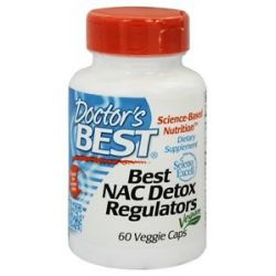 Doctor's Best Best NAC Detox Regulators 600 MG 60 Vegetarian Capsules
