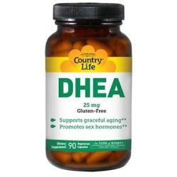 Country Life DHEA Dehydroepiandrosterone 25 MG 90 Vegetarian Capsules