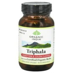 Organic India Triphala Digestion Colon Cleanse 90 Vegetarian Capsules 851469000175