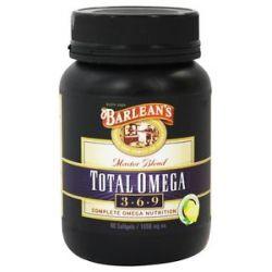 Barlean's Total Omega 3 6 9 Master Blend Lemonade Flavor 1000 MG 90