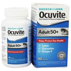Bausch Lomb Ocuvite Adult 50 with Lutein Zeaxanthin and Omega 3 50