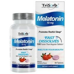 Healthy Natural Systems Trisorb Melatonin Fast Dissolves Delicious Strawberry