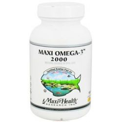 Maxi Health Research Kosher Vitamins Maxi Omega 3 2000 Certified Kosher Fish