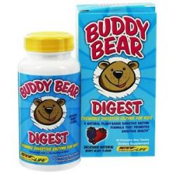 Renew Life Buddy Bear Digest Digestive Enzyme Supplement for Children Berry