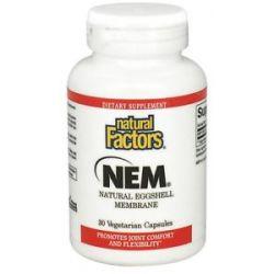 Natural Factors NEM Natural Eggshell Membrane 500 MG 30 Vegetarian Capsules
