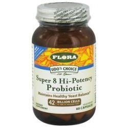 Flora Udo's Choice Super 8 Hi Potency Probiotic 42 Billion Cells 60 Capsules
