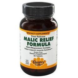 Country Life Malic Relief Formula Time Release 60 Tablets formerly Biochem 015794016212
