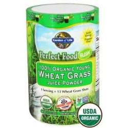 Garden of Life Perfect Food Raw 100 Organic Young Wheat Grass Juice Powder