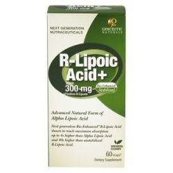 Genceutic Naturals Bio Enhanced Natural R Lipoic Acid 300 MG 60 Vegetarian