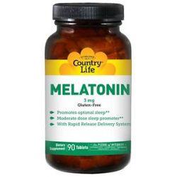 Country Life Melatonin 3 MG 90 Tablets
