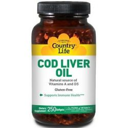 Country Life Cod Liver Oil 250 Softgels 015794035510