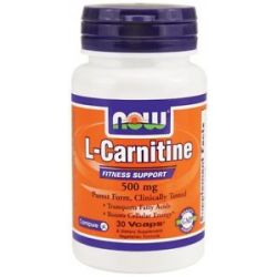 Now Foods L Carnitine 500 MG 30 Capsules