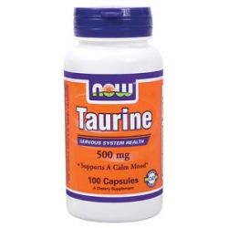 Now Foods Taurine 500 MG 100 Capsules