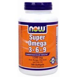 NOW Foods - Super Omega 3-6-9 1200 mg. - 180 Gelcaps