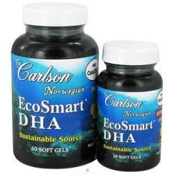 Carlson Labs Norwegian EcoSmart DHA Lemon Flavored 500 MG Bonus Pack 60