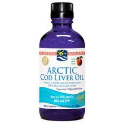 Nordic Naturals Arctic Cod Liver Oil Peach 8 Oz