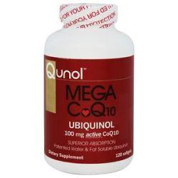 Qunol Mega CoQ10 Ubiquinol 100 MG 120 Softgels 898440001196